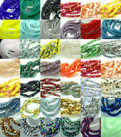 200Pcs Dia. 2mm Cube Crystal Glass Jade Loose Square Spacer BEADS Jewelry Diy