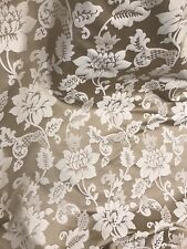 """Beige floral jacquardupholstery drapery fabric 110"""" width sold by the yard"""