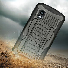 Armor Hybrid Impact Rugged Case Stand Cover Holster For Google LG Nexus 4 E960