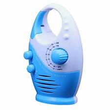 Mini AM FM Duschradio, wasserdichter Lautsprecher Badezimmer, (Weiß / Blau)