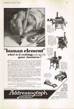 1929 Addressograph Co. Dupligraph Cardograph Vtg Print Ad