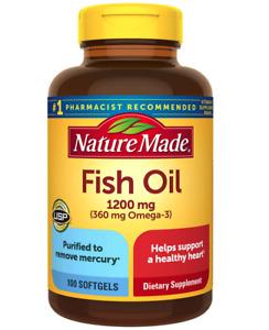Nature Made Burp-Less Fish Oil 1200 mg. - 100 Softgels