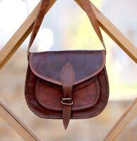 New Women Vintage Brown Leather Messenger Cross Body Bag Handmade Purse Bag