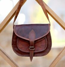 New Women Vintage Brown Leather Messenger Cross Body Bag Handmade Purse Bag