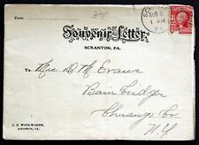 1906 Souvenir Letter PA Scranton Eight Street Building Landmark Views J20