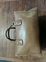 GUCCI Leather Purse Duffel Doctors Bag Weekender Travel Luggage Vintage Italy