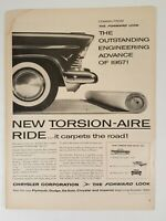 Vintage Chrysler New Torsion-Aire Forward Look Print Ad 1956 Life Magazine Ad