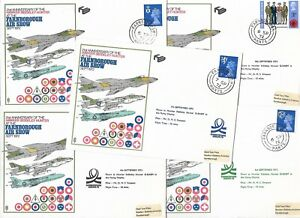 FIVE FLOWN 1972 RAF MUSEUM COVERS - HAWKER SIDDELEY HUNTER - FARNBOROUGH CDS.