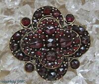 Granatbrosche Anstecknadel Nadel Brosche mit Granat Granate Antik Jugendstil