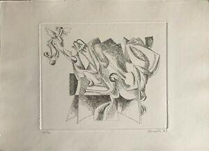 Vittorio Basaglia acquaforte 50x35 firmata numerata 1973 rif AA