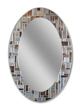 Windsor Oval - Decorative Frameless Wall Mirror (1201)