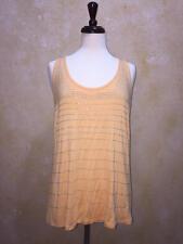 Fenn Wright Manson Silver Embellished Tank Top Mustard Women's Med NWT