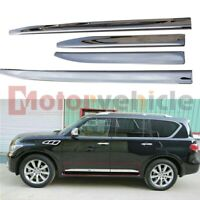 US Stock For Infiniti QX80 2011-2021 Chrome Door Side Sill Moulding Trim Plate