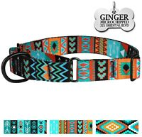 Martingale Collars for Dogs Safety Training Collar Dog Control Engraved ID Tag
