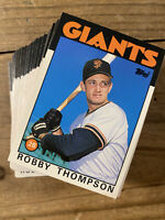 (90) 1986 Topps Traded #113T Robby Thompson Rookie San Francisco Giants  NM-MT+