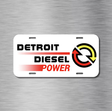 Detroit Diesel Vehicle Front License Plate Truck Tag Power Ram Ford Chevy GMC
