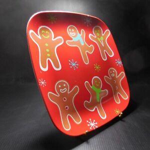 Assiette plate carrée rouge plastique design vintage art déco table enfant N7761