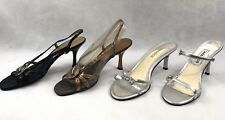 Lot of 4 Women's Pumps - Size 7M - Bandolino - Caparros - Heels - Metallic - EUC