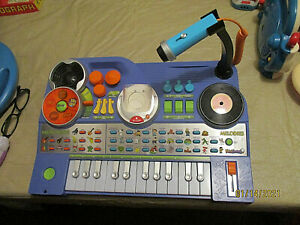 Vtech BLUE KIDIJAMZ DJ Music Studio Piano Keyboard Microphone NO MP3 WORKS GREAT