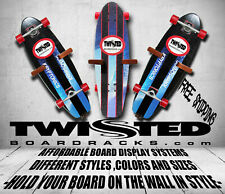Skateboard Wall Storage Display Racks 3 pc Set Any Angle or Height Natural Wood