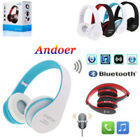 Foldable Wireless Stereo BT Headphone Earphone Headset For iPhone Samsung