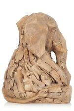 Driftwood Effect Elephant Sculpture