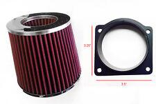 RED Air Intake Filter + MAF Sensor Adapter For 95-01 Mazda B4000 4.0L V6