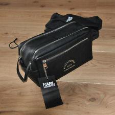 Karl Lagerfeld KALBSLEDER Designer Kulturbeutel Reise-Essential Leder Tasche