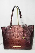 RARE! NWT Brahmin Tori Tote in Ember Melbourne. Croc Embossed Leather