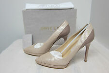 Jimmy Choo Rudy Snake-embossed Leather&Patent  Pumps Orig$795 Size 39EU/8US