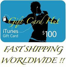 $100 US iTunes Gift Card Voucher Certificate Apple USA USD iTune 100% Genuine