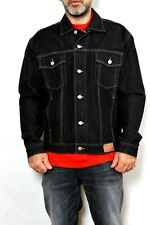 Guess VTG 90s Denim Trucker Jacket Size L  Black Made in USA Very Good Casuals