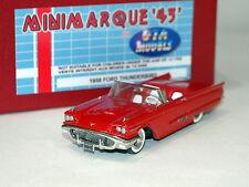 Minimarque Gta Modelos 1958 Ford Thunderbird, Rojo, Hecho A Mano En Metal Blanco BNIB