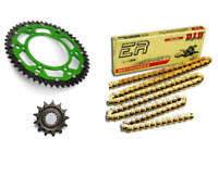 Kit Chaine DID ERT3 OR +Couronne Bi Vert 13x50 Kawasaki KXF 250 2006 à 2018