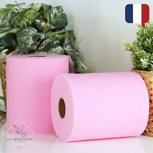 Rouleau Tulle Rose Pale 15cmx90m qualité supérieure polyester tutu Mariage