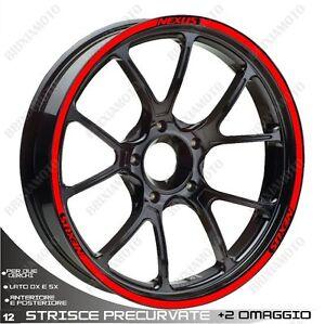 Adhésif Profiles Wheels Rim Stickers Gilera Nexus 500 300 Rouge