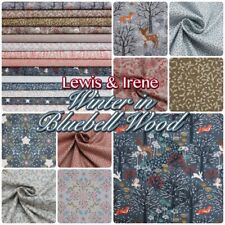 Lewis & Irene Winter in Bluebell Wood Christmas 100% Cotton Patchwork Fabric