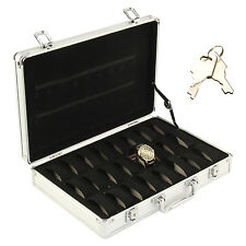 Fashion Aluminum 32 Watch Display Box Protected Storage Cases Safety Decoration