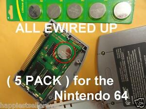 5 PACK NEW Memory Backup Save Battery for the Nintendo N64 System Games Card