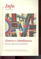 INFO NUOVA SERIE N.7-9 -15/4-15/5/2000 -GENERE E CITTADINANZA-Filiale di Roma-Z7