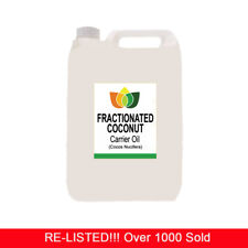 5L FRACTIONATED COCONUT OIL PREMIUM Cold Pressed Natural Carrier/Base 5 Litre