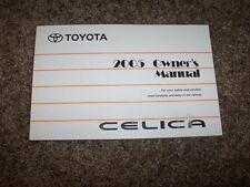 2005 Toyota Celica Factory Owner Owner's User Guide Manual GT GTS 1.8L 4 Cyl