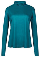 Marks and Spencer Funnel Neck Long Sleeve Women's Top - Teal, Size 16