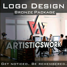 CUSTOM LOGO DESIGN | PROFESSIONAL BUSINESS LOGO | UNLIMITED REV - BRONZE PACKAGE