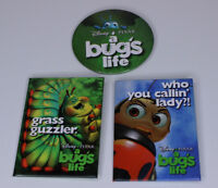 Pixar A Bug's Life Set of 3 Theatrical Promotional Pinback Buttons 1998 Vintage