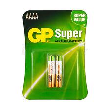 2 x GP Alkaline Super AAAA batteries LR8D425 1.5V MX2500 LR61 Pack of 2
