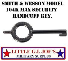 Smith & Wesson Model 104K Max Security Handcuff Key Police Sheriff