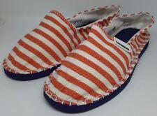 Havaianas Espadrille Unisex Orange Gestreift Strand Sommer Slipper Schuhe UK 4