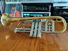 1957 vintage CG CONN VICTOR 80-A CORNET two-tone Brass and Silver Nickel +CASE