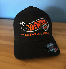 Custom Black Embroidered 2018 Hot Wheels Camaro 50th Fitted Hat Size SM/MD